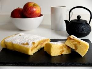 receta pastel de manzana en microondas