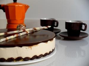 Tarta mouse de café