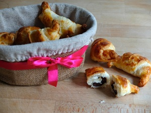 Receta croissants de chocolate