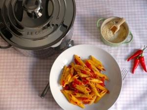 macarrones picantes receta