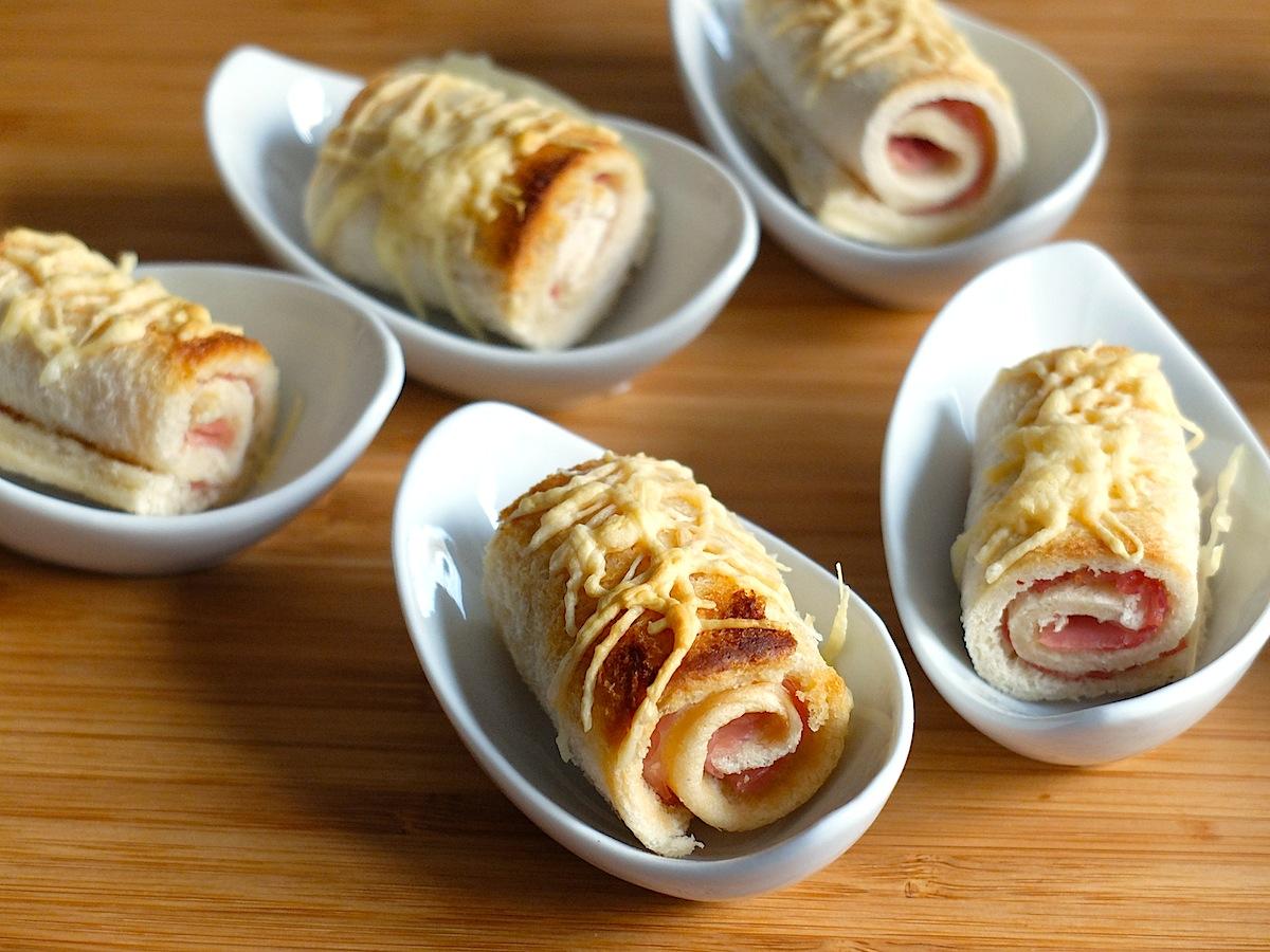 Rollitos s per f ciles de queso y jam n pixiecocina for Canape de jamon y queso